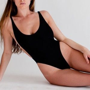 American Apparel One piece backless swimsuit